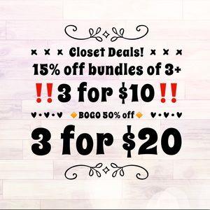 Other - Closet Deals!